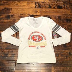 San Francisco 49ers 2012 NFC Ladies Shirt Sz M.